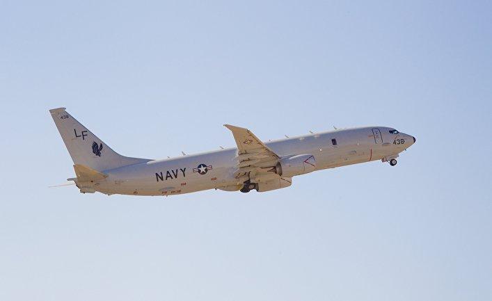 Американский патрульный противолодочный самолет Boeing P-8 Poseidon.