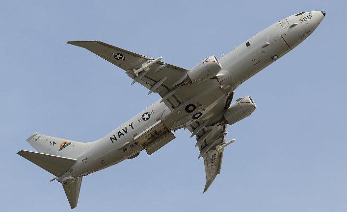 Американский самолет Boeing P-8A Poseidon.