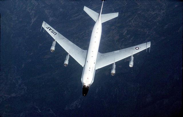 Американский самолет-разведчик RC-135. Архивное фото