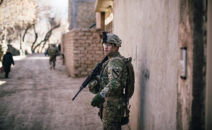 Американский солдат, Герат, Афганистан.