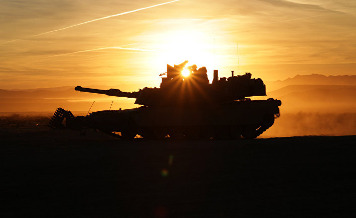 "Американский танк M1A2 ""Абрамс""."