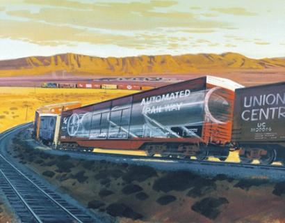 """Американский железнодорожный комплекс с ракетой """"Пискипер"""""""