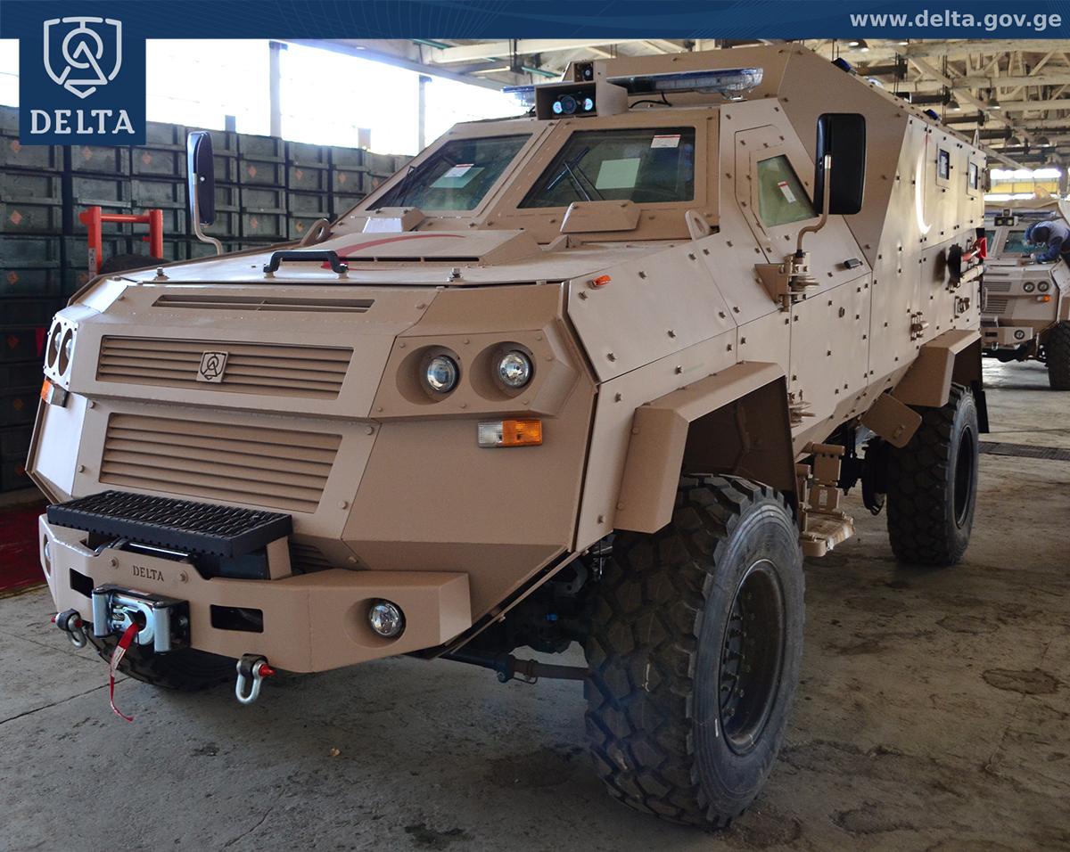 """Изготовленные для Саудовской Аравии государственным военным научно-техническим центром """"Дельта"""" министерства обороны Грузии бронированные медицинские эвакуационные машины AMEV (Armored Medical Evacuation Vehicle), выполненные на базе бронеавтомобиля Didgori 2."""