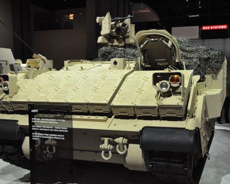 AMPV компании BAE Systems на базе шасси Bradley.
