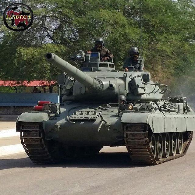 Танк AMX-30V из состава 111-го танкового батальона 11-й бронетанковой бригады 1-й пехотной дивизии венесуэльской армии. 2015 год.