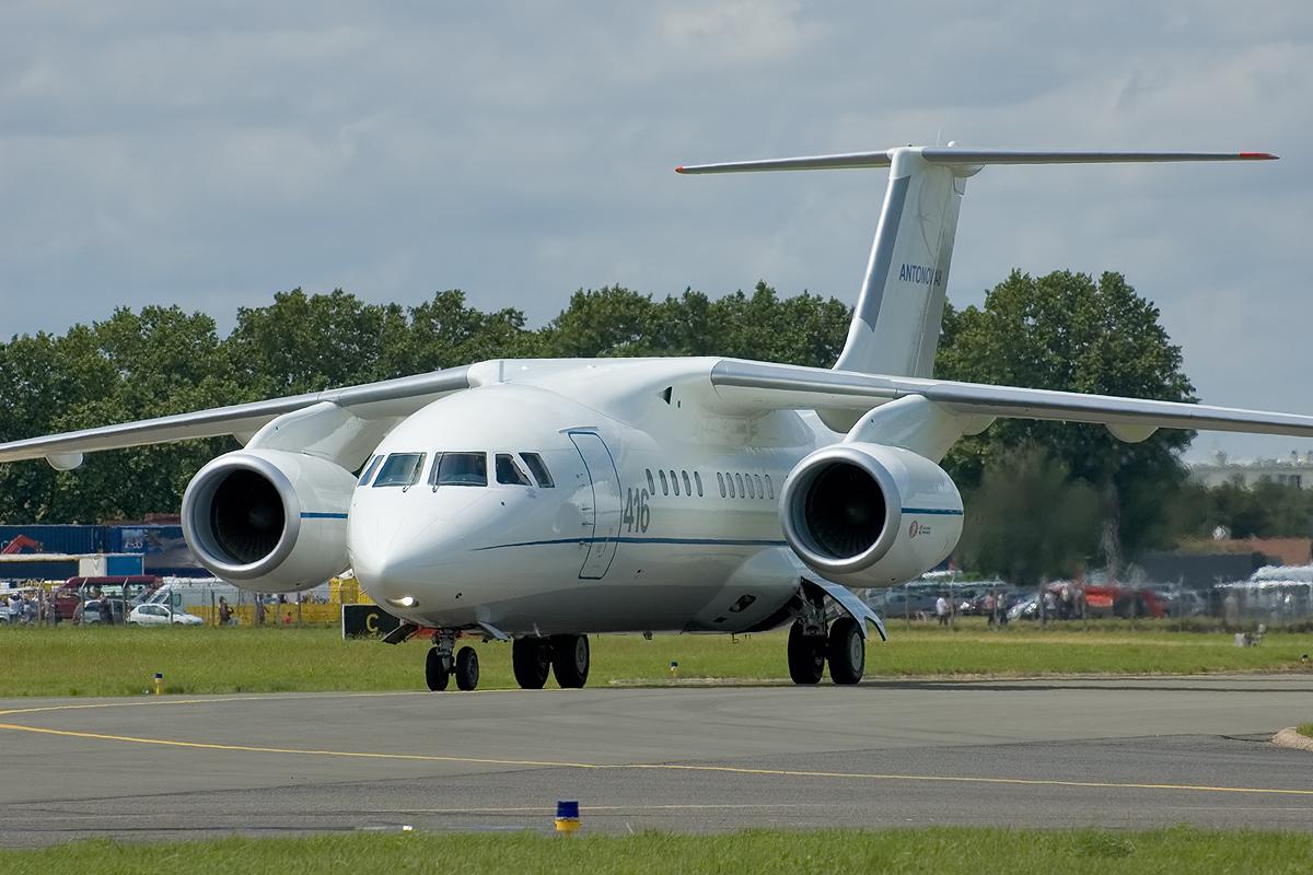 Самолет Ан-148 созданный в Украине. Генеральный конструктор Балабуев П.В. На его базе созданы самолеты Ан-158 и Ан-178.