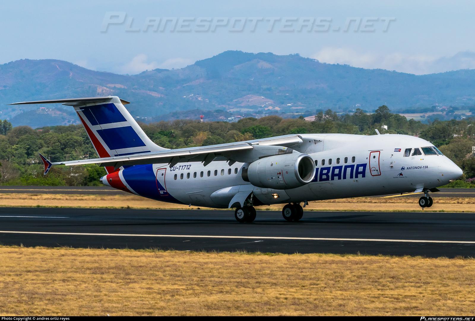 Пассажирский региональный самолет Ан-158 (регистрация CU-T1712, серийный номер 201-03) авиакомпании Cubana Aviation, 26.04.2015.