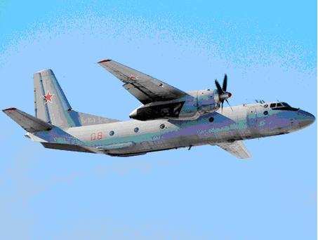 Самолет Ан-26, созданный на базе самолета Ан-24.