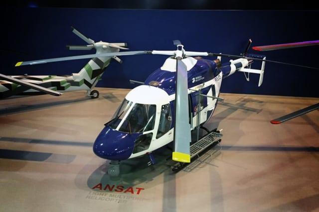 """Легкий многоцелевой вертолет """"Ансат"""" на выставке LAAD 2017."""