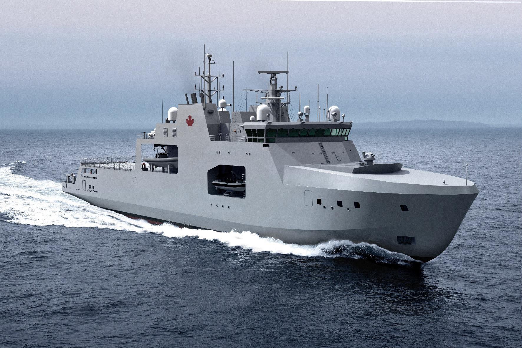 Рисунок патрульного корабля арктической зоны (Arctic and Offshore Patrol Vessels – AOPS).