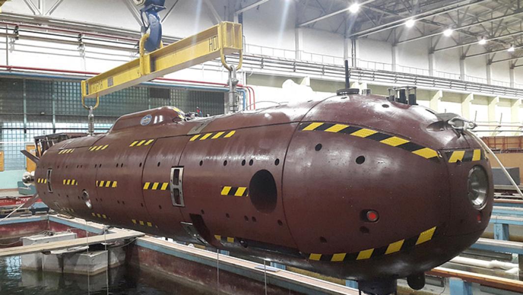 """Необитаемый подводный аппарат """"Клавесин-2Р-ПМ""""."""