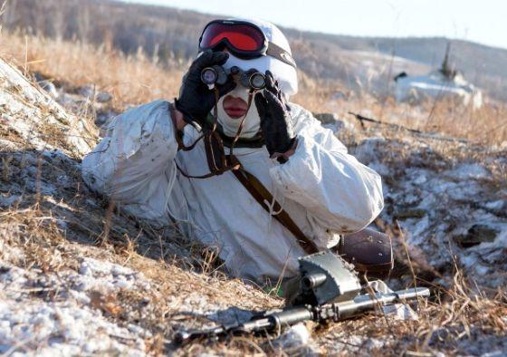 Подготовка арктических стрелков на