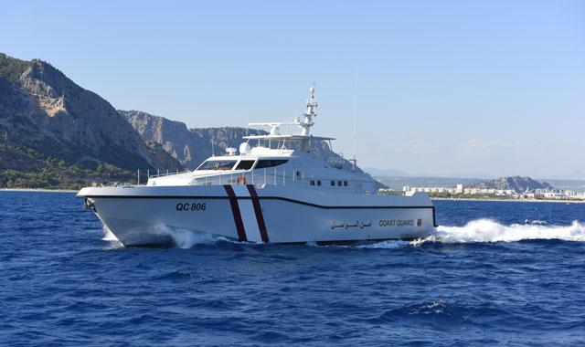 Головной построенный для береговой охраны Катара сторожевой катер QC 806 проекта Ares 110 Hercules постройки турецкой компании Ares Shipyard.
