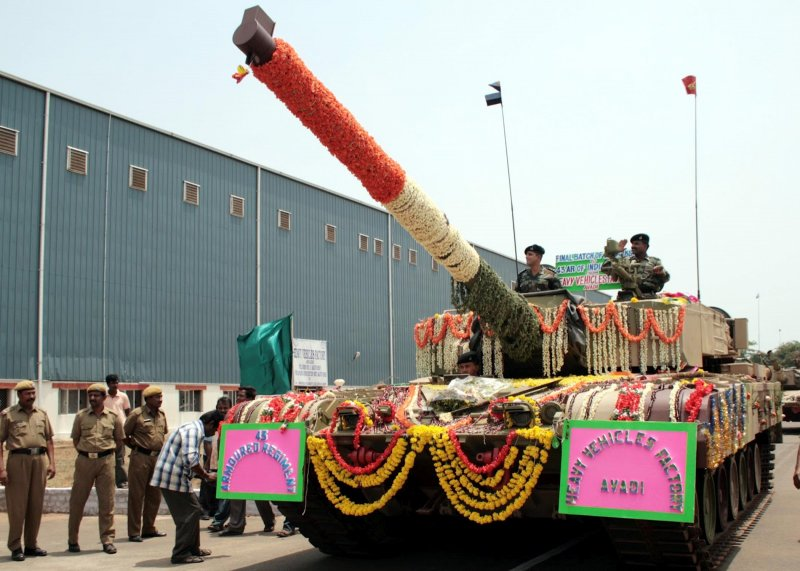 Арджун МК-1 производства индийской компании «Heavy Vehicle Factory», 11 Сентября, 2012.