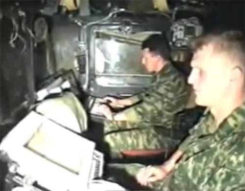 рабочие места оператора топопривязки, навигации и командира