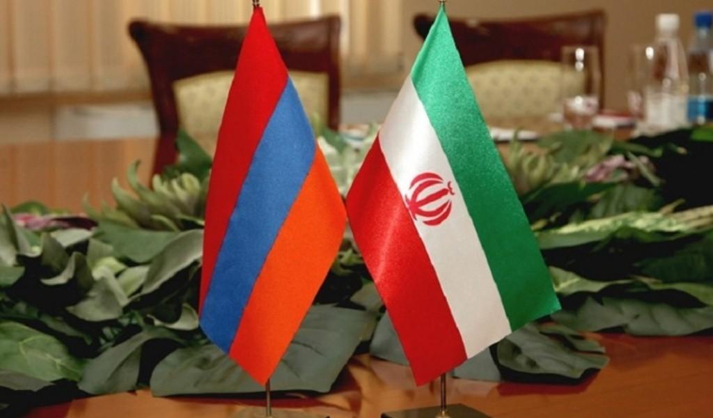 Флаги Армении и Ирана.