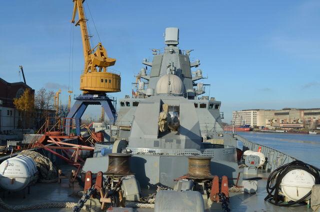 """Артиллерийская установка А-192 фрегата проекта 22350 """"Адмирал флота Касатонов"""""""