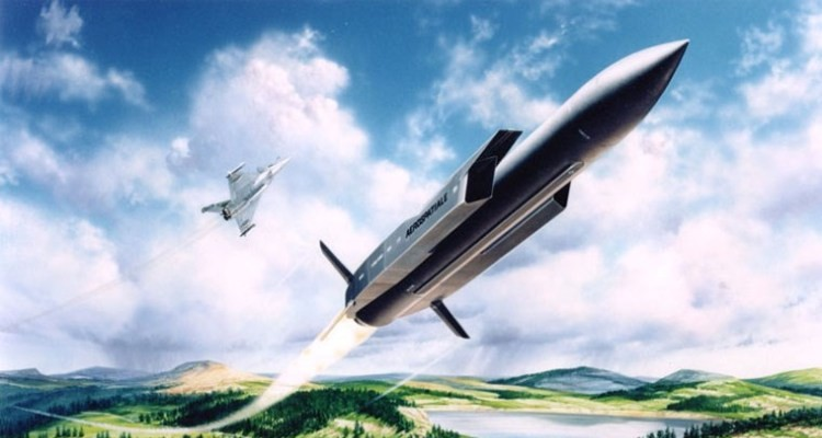 Пуск ракеты ASMP-A с истребителя Rafale (рисунок)