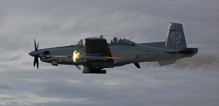 "Ударный самолет Beechcraft AT-6 ""Wolverine"" («Росомаха»)."