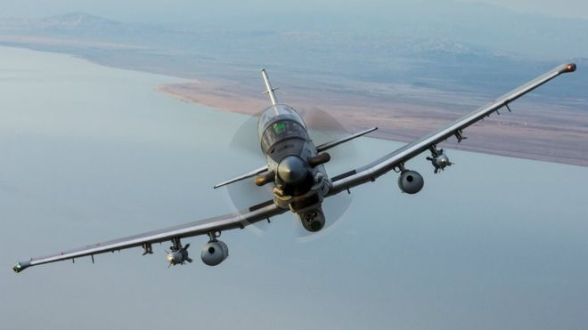 Textron AT-6 Wolverine - один из претендентов на роль легкого штурмовика ВВС США.