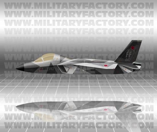 Изображение японского перспективного истребителя ATD-X (Shinshin).