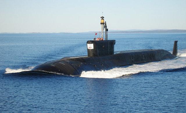"""Атомная подводная лодка """"Юрий Долгорукий"""" во время ходовых испытаний"""