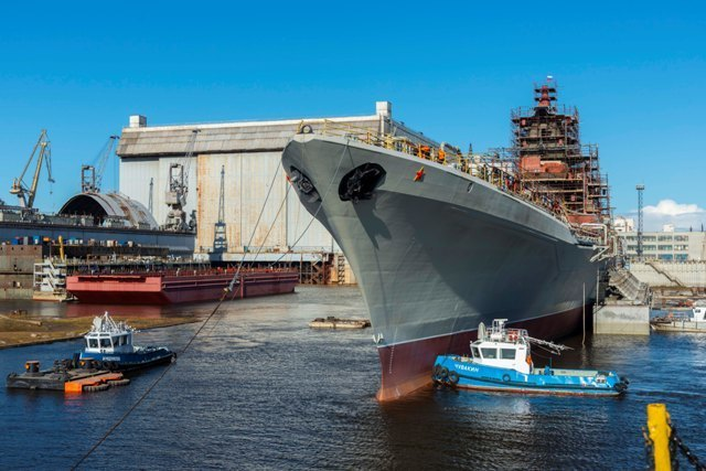 Атомный крейсер «Адмирал Нахимов» в процессе модернизации