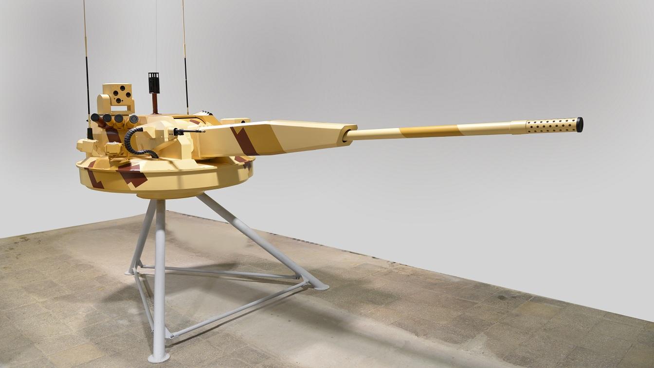 Необитаемый боевой модуль АУ-220М с 57-мм пушкой разработки ОАО «ЦНИИ «Буревестник».