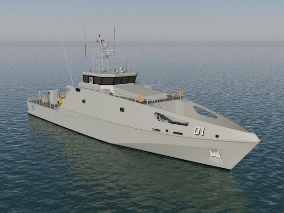 Проект катера компании Austal Ships