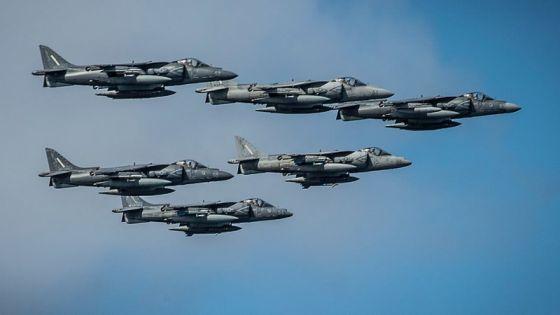 Группа самолетов AV-8B Harrier II