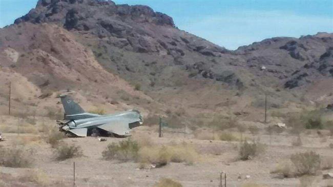 Авария истребителя F-16.