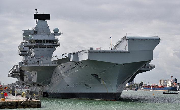 """Авианосец """"Королева Елизавета"""", ВМС Великобритании."""