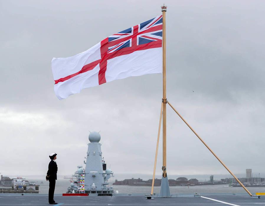 Церемония вступления в состав Королевских ВМС Великобритании авианосца R 08 Queen Elizabeth. Портсмут, 07.12.2017.