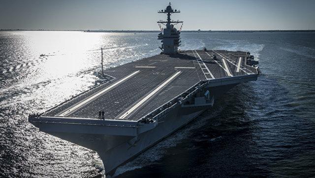Авианосец USS Gerald R. Ford.