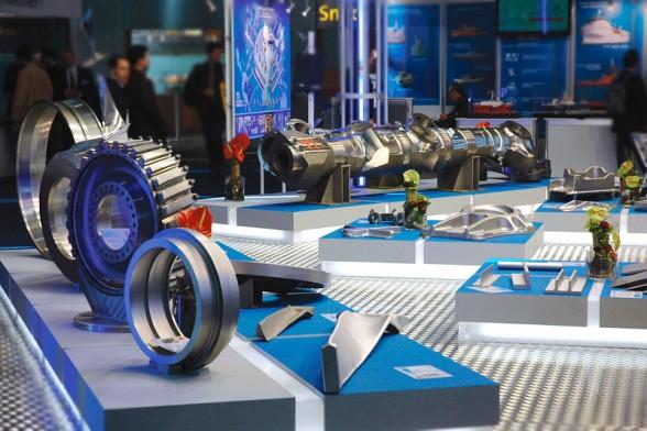 Экспозиция ВСМПО-АВИСМА на 17-й Меджународной выставке компонентов, деталей и комплектующих промышленного оборудования «M-TECH 2013».