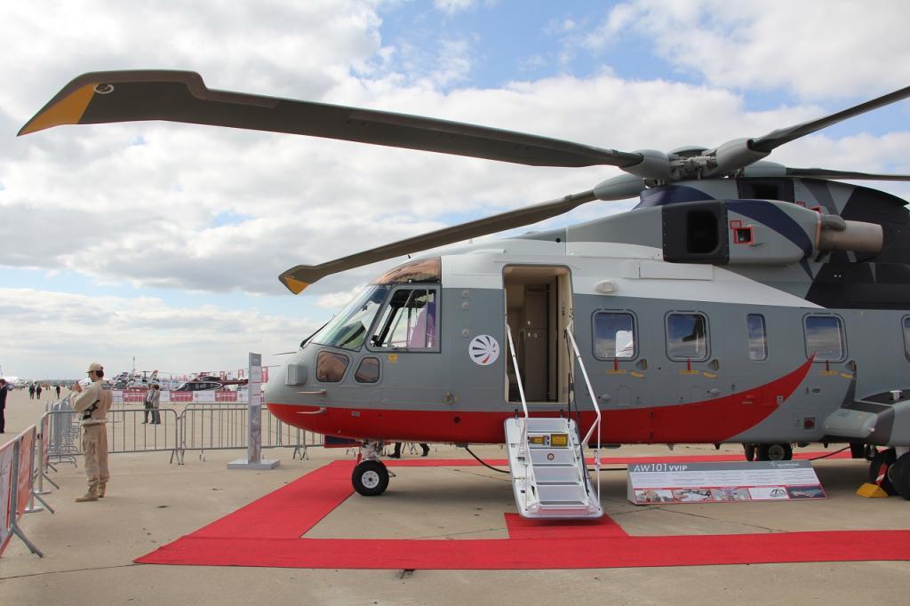 Вертолет AW101VVIP на МАКС-2013.