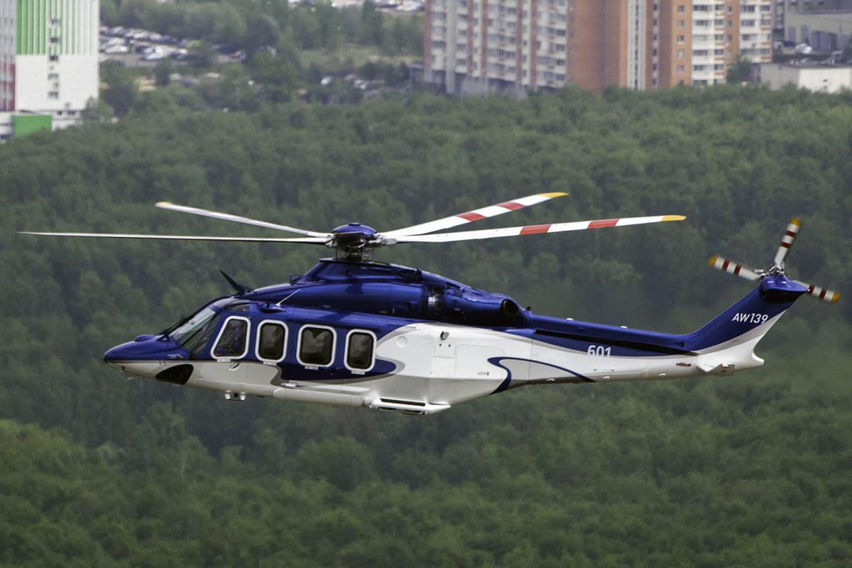 Двухмоторный многоцелевой вертолёт AW-139.