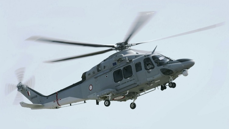 Вертолет AW139 ВС Мальты.