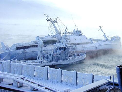 Арктическая зима в Новороссийске. Фото из материалов работы государственной комиссии. Предоставил Александр Чеботарев.