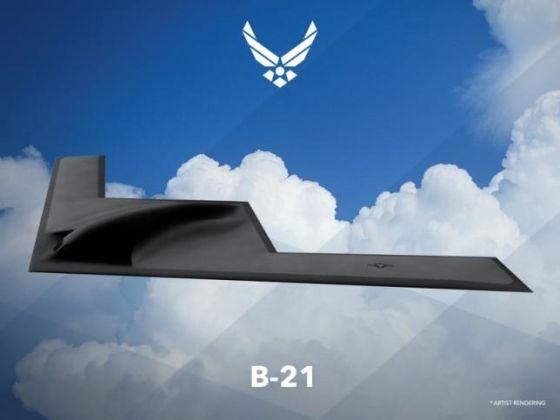 Изображение бомбардировщика B-21