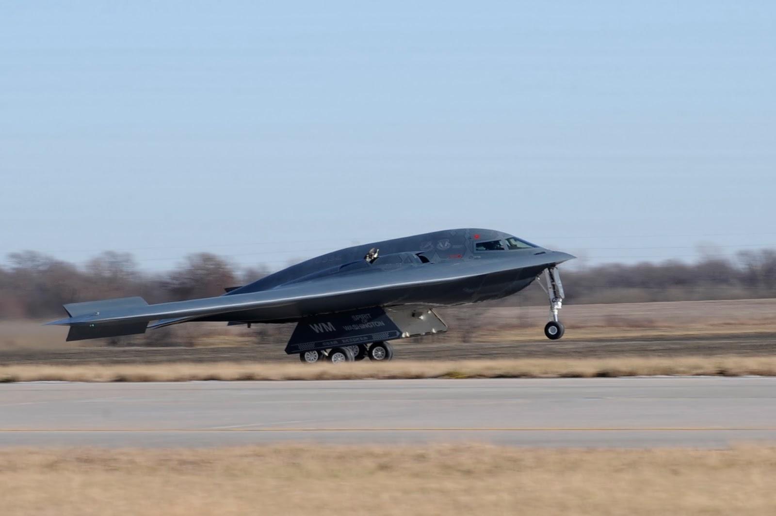 Бомбардировщик B-2 Spirit of Washington.