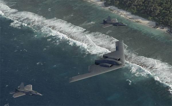 B-2 в сопровождении F-22.