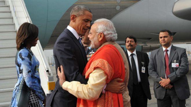 Барак Обама и Нарендра Моди.