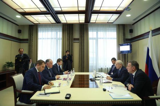 Рабочая встреча Рустэма Хамитова и Александра Михеева