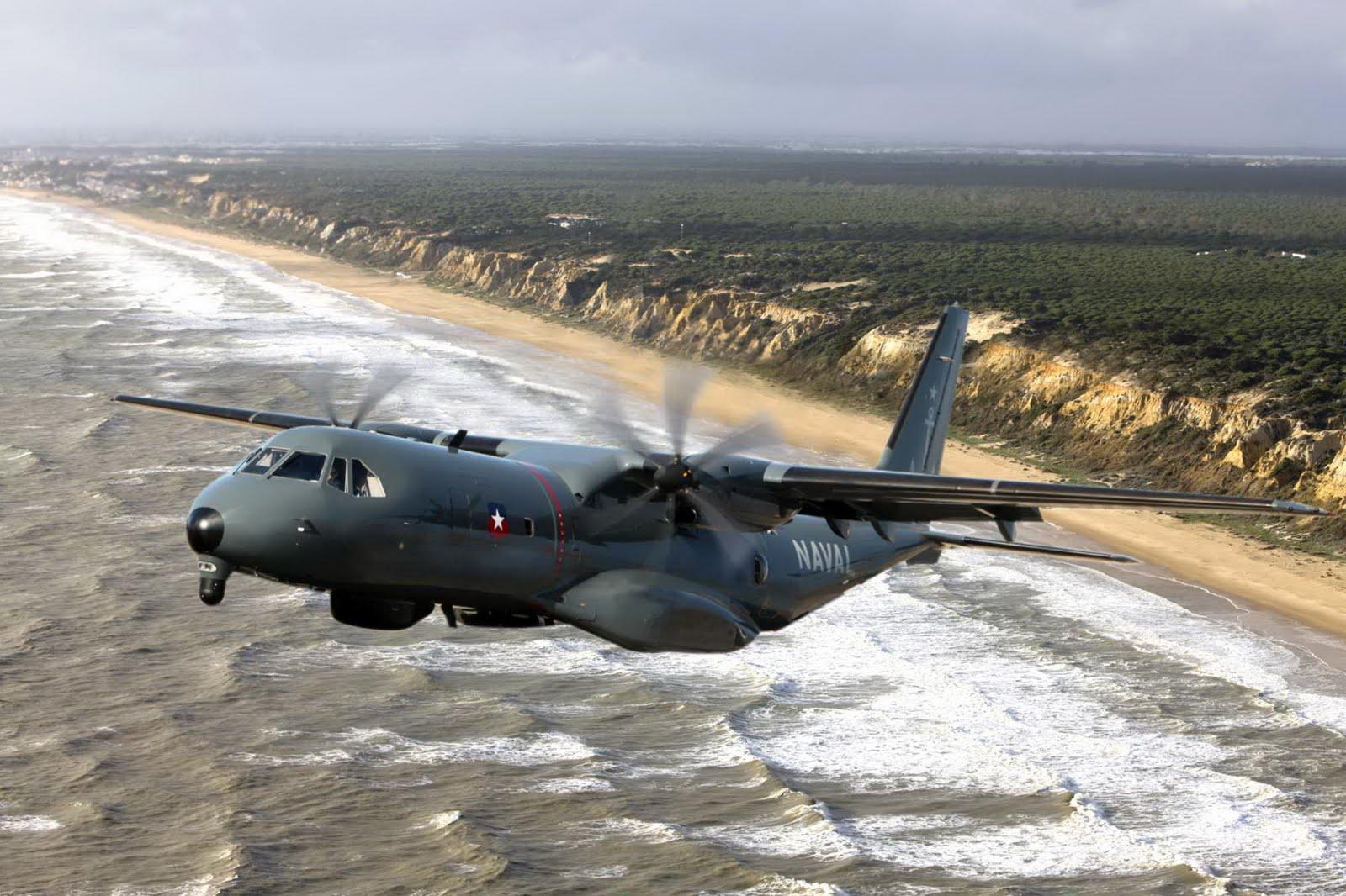 Базовый патрульный самолет Airbus C295 MPA авиации ВМС Чили.