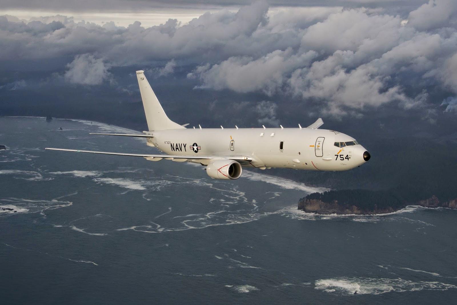 Базовый патрульный самолет Boeing P-8A Poseidon (номер ВМС США 167954, серийный номер 34397) из состава базовой патрульной эскадрильи VP-45 авиации ВМС США.