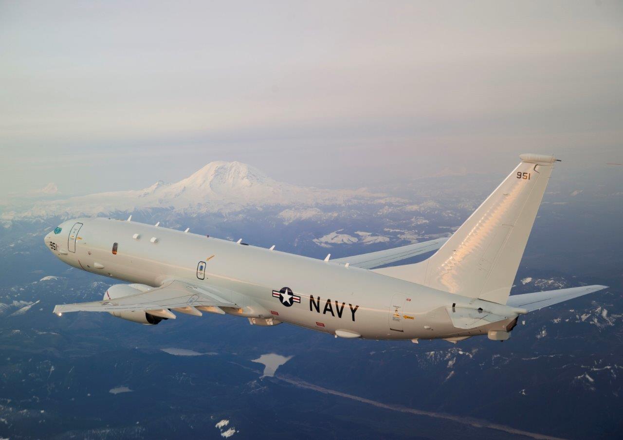 Базовый патрульный самолет Boeing P-8A Poseidon из состава испытательной эскадрильи VX-20 авиации ВМС США. Это первый предсерийный самолет Р-8А (номер ВМС США 167951, серйиный номер 34394/2599/T1).