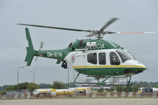 Один из двух вертолетов Bell 429 авиации МВД Словакии (регистрация OM-BYМ), 2015 год.