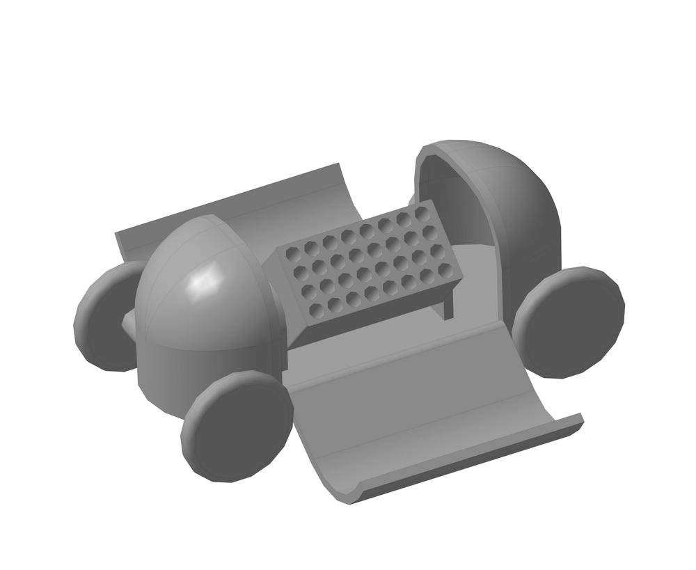 Блок залпового огня на универсальном многофункциональном прицепе-тележке «Кокон».