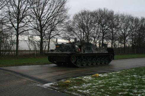 Одна из приобретенных Финляндией из наличия армии Нидерландов бронированных ремонтно-эвакуационных машин Bergepanzer 2 на шасси танка Leopard 1